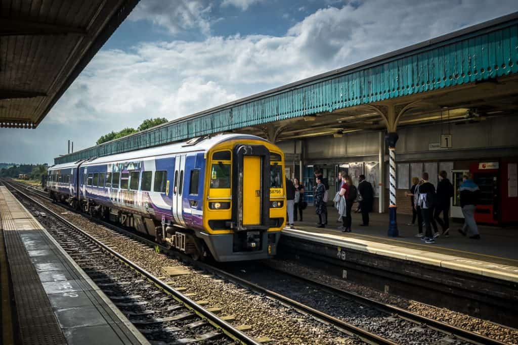 The East Midlands train in Chesterfield station